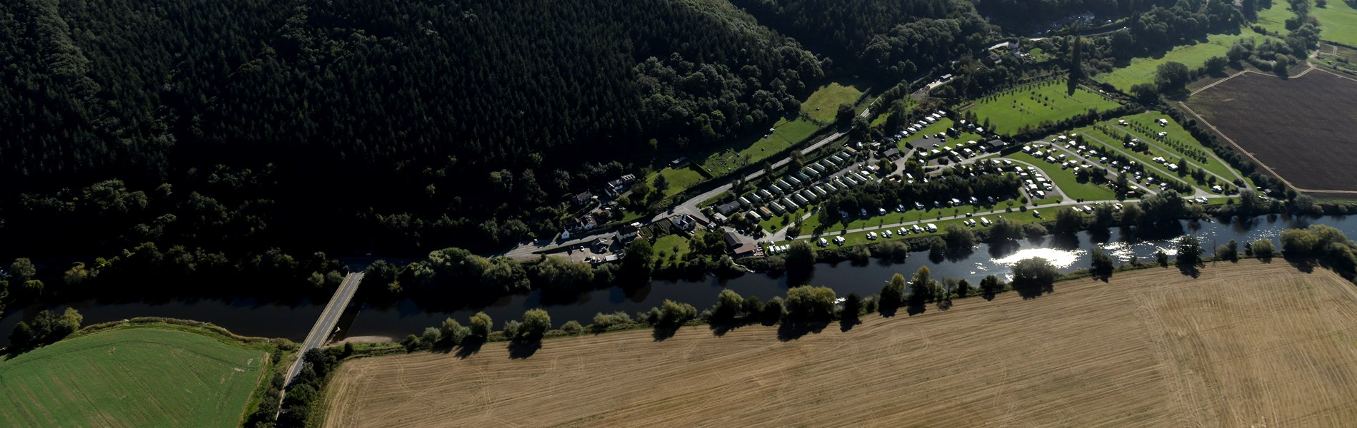 Lucksall Caravan & Camping park situated on the banks of the river Wye.
