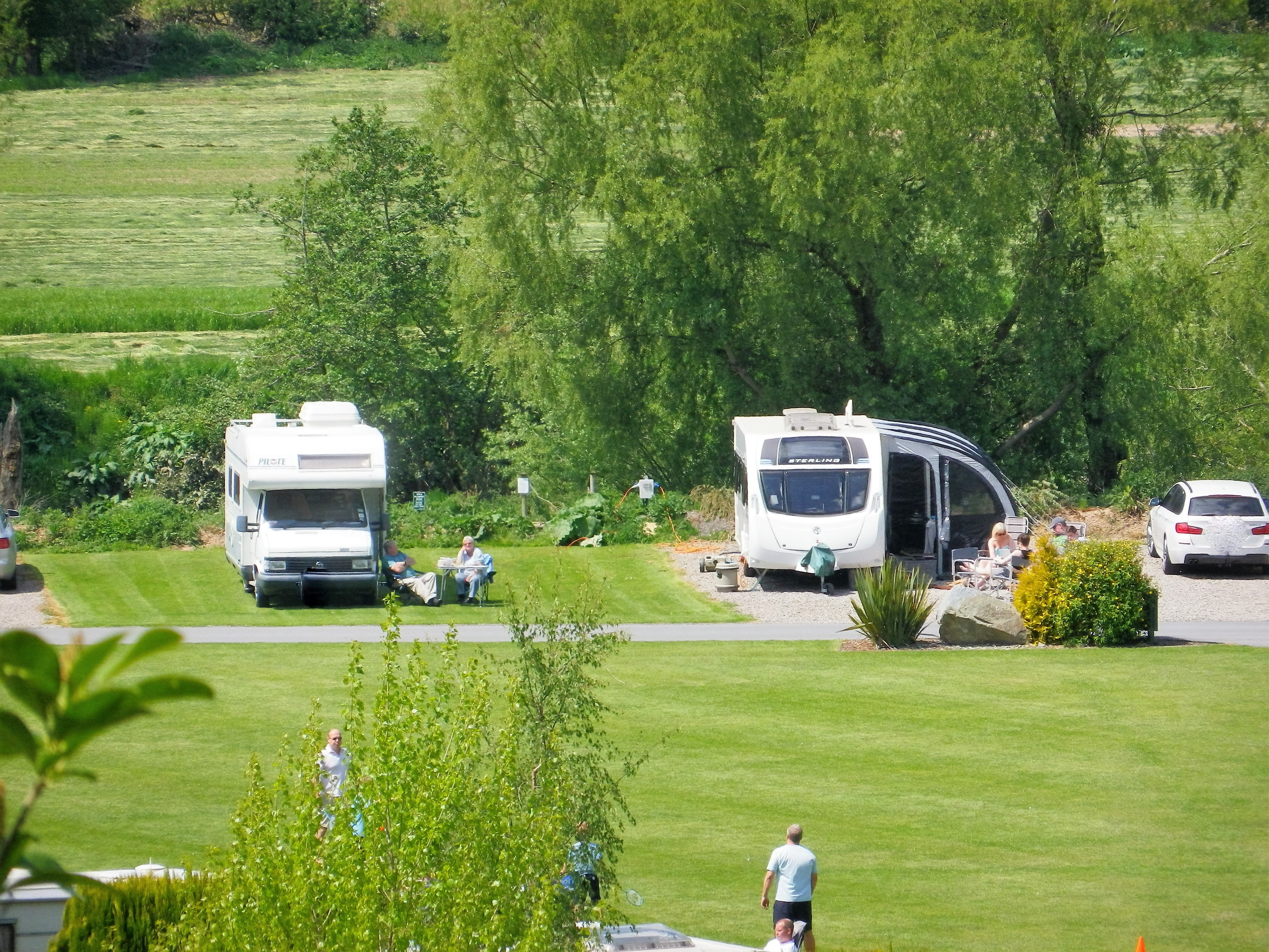 Simple Firstly The Site Is Small But Perfectly Formed And Even With All The Caravans Rented  You Can Also Hire Bikes Or Bring Your Own And A Few Meters Down The Road Is A Dirt Track Through A Farm Down To The River Wye For Those Ladies Who Rather